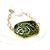 Olive green bracelet, adjustable length, large easy open clasp, textured ceramic