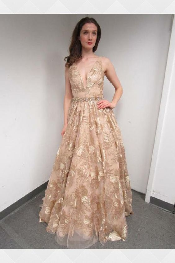 d095167770 Customized Delightful Champagne Prom Dress