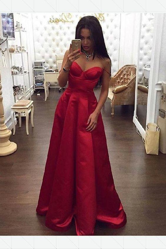 193af9cc016 Feminine Prom Dresses Red