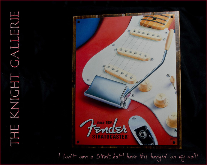 Guitar Wall Decor: Fender Stratocaster