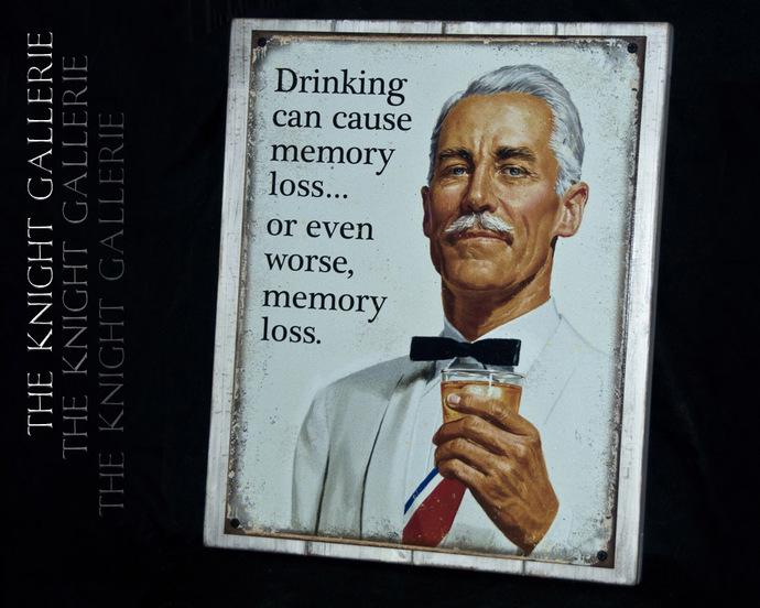Man Cave Decor; Memory Loss...
