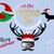 Christmas Cut File Quote Set Deer Head Dachshund Bird Santa Claus Vector