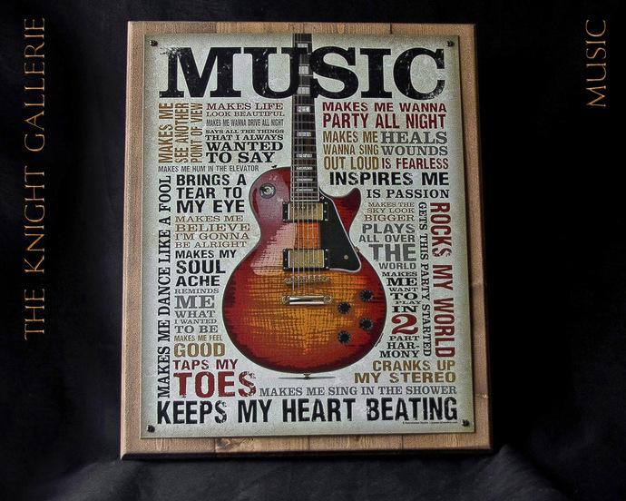 Guitar Wall Decor; Les Paul / MUSIC!