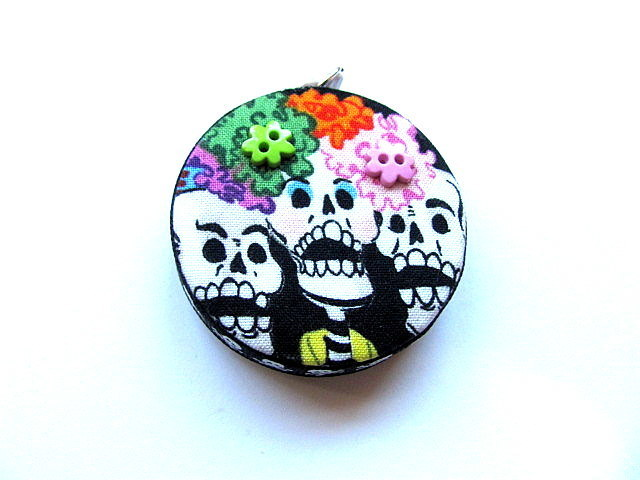 Tape Measure Flowers and Skulls Retractable Measuring Tape