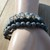 Black Natural Stone Stacking Bracelets Set of 3 Labordorite Onyx The Classics
