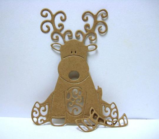 Reindeer with Scarf Metal Cutting Die