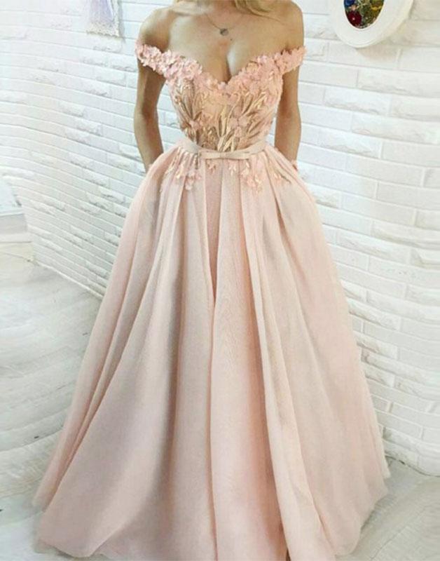 Off the Shoulder Formal Dresses Long,Prom dresses, long prom dress, evening