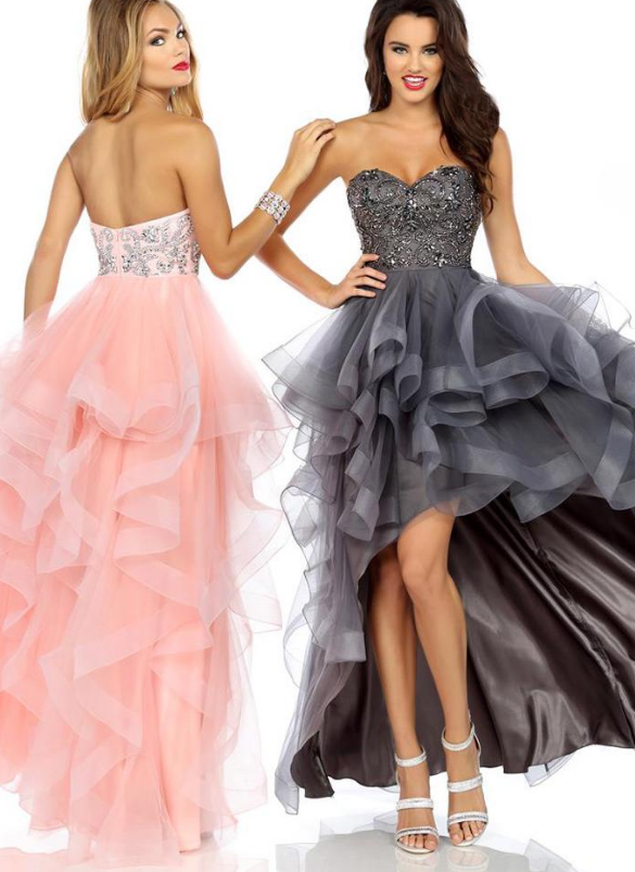 Charming Tulle Sweetheart Neckline Hi-lo A-line Prom Dress With Beadings
