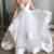 Simple A-line Straps Ivory Long Wedding Dress with Backless