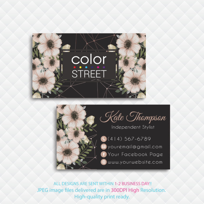 How to Apply Cards, Color Street Business Cards, Color Street Application Cards,