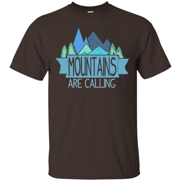 Retro Camping T-shirt, Vintage Camping Tee, Camping T-shirt, Mountains Are