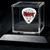 Commemorative guitar pick and display case: Slipknot