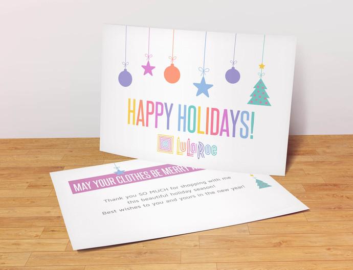 Happy Holidays - Lularoe Postcard- White