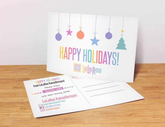 Happy Holidays - Lularoe Postcard- with coupon