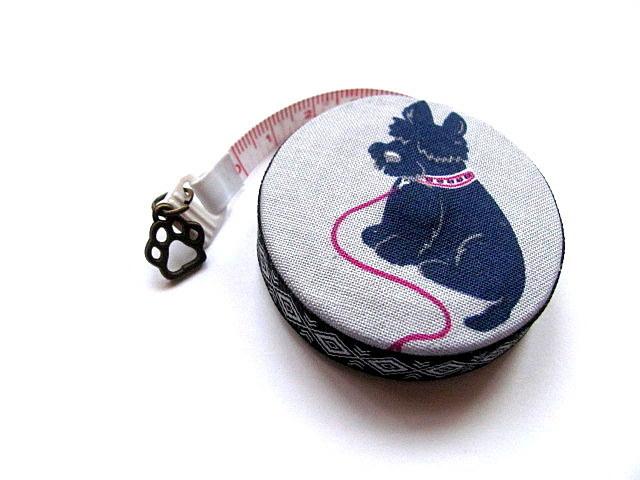 Measuring Tape Black Scottie Dogs RetractableTape Measure