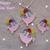 FSL jewelry Little Flower Pig earrings, pendant, motif Free Standing Lace