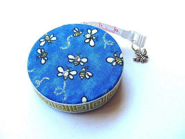 Measuring Tape  Bees on Blue Small Retractable Tape Measure