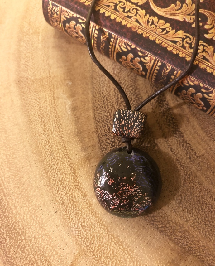 Rough Stained Glass Necklace