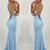 Open Back Prom Dresses Spaghetti Straps Trumpet Mermaid Long Lace Sexy Prom
