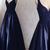 Dark Navy Prom Dresses V-neck Floor-length Sexy Lace Prom Dress/Evening Dress