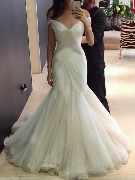 Sexy Wedding Dresses Trumpet/Mermaid Sweep/Brush Train Bridal Gown