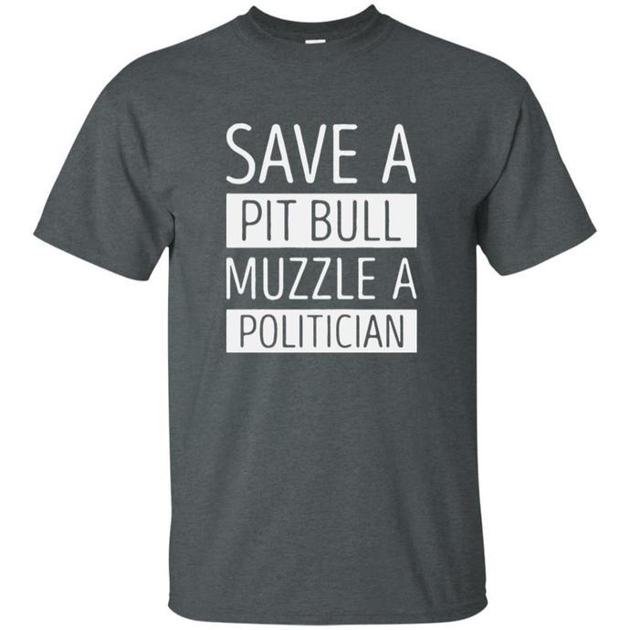 Save A Pit Bull Muzzle A Politician Men T-shirt, Pit Bull Muzzle Tshirt,