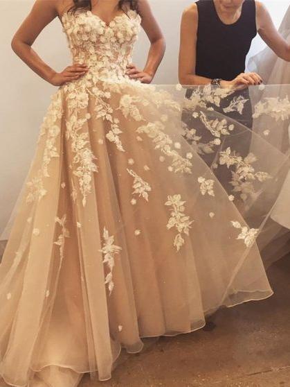 be2cad2eefd4 Cute Prom Dresses A-line Sweetheart Floor-length Beautiful Long Prom Dress