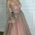 Sparkly Prom Dresses Scoop A line Floor-length Long Chic Prom Dress