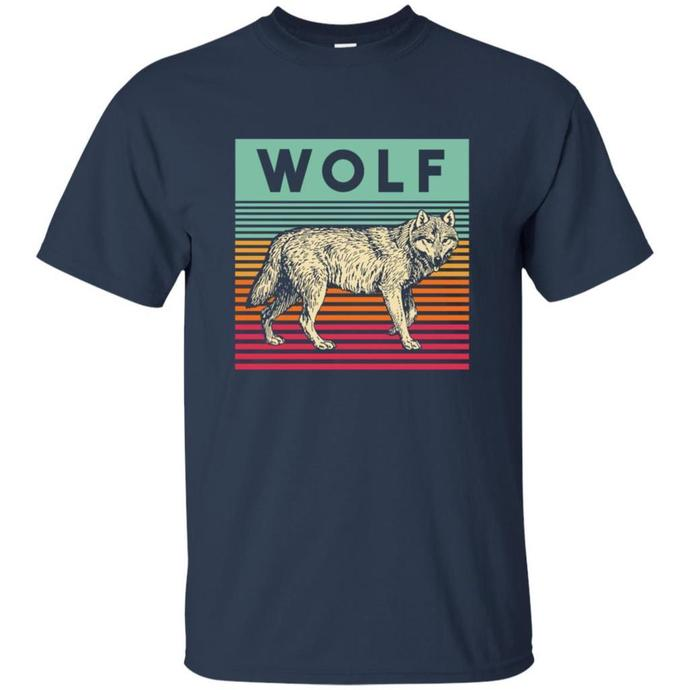 The Wolf Retro Men T-shirt, The Wolf Retro T-shirt, The Wolf Vintage Tee, The