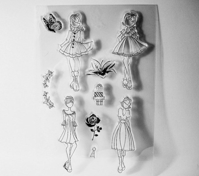 Fashion Girls Clear Stamp Set Style #1