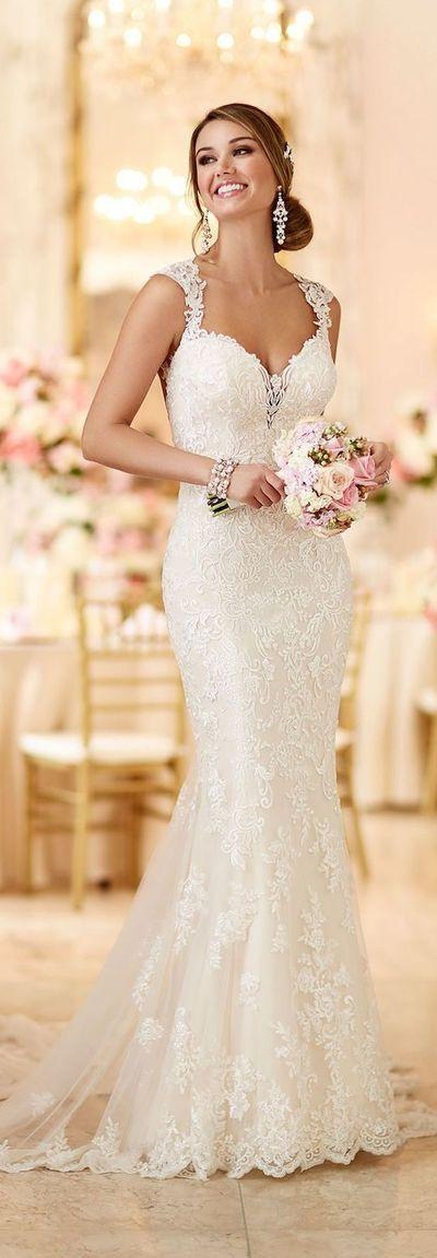 Newest V Neck Weeding Dress, Long Bridal Dress, Backless Weeding Dress