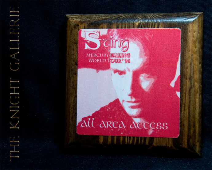 Authentic Backstage Pass: STING