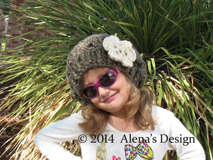 Crochet Pattern 112 Marie Slouchy Hat Toddler Child Teen Adult Women Winter
