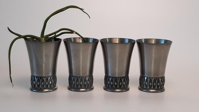 Mastad pewter shot glasses, design 131