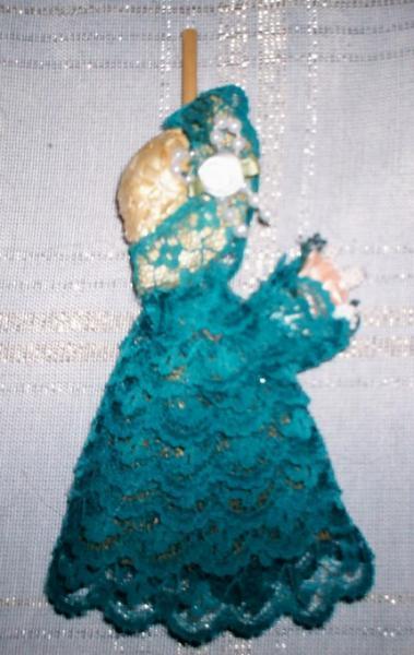 Bridesmaid Straw Broom Teal Small