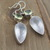 Vintage Rose Quartz & Lemon quartz Earrings Gemstone Dangle and Drop