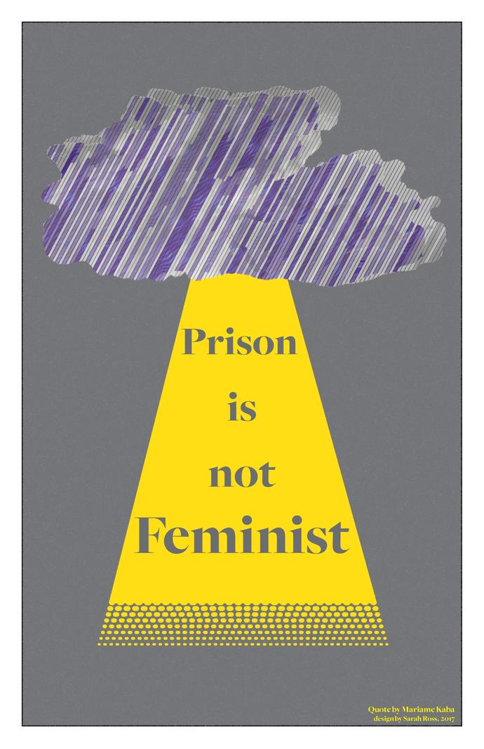 """Prison Is Not Feminist"" Poster (Version #2)"