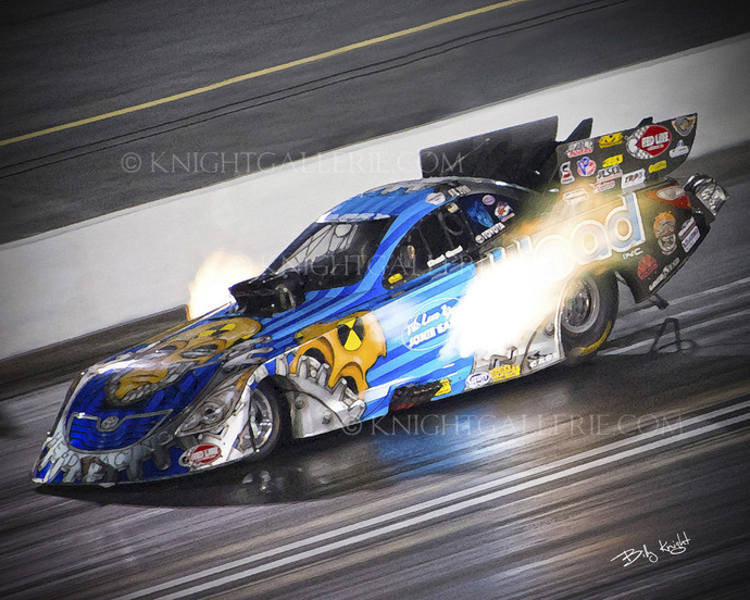 Nitro Funny Car; Night Qualifying!
