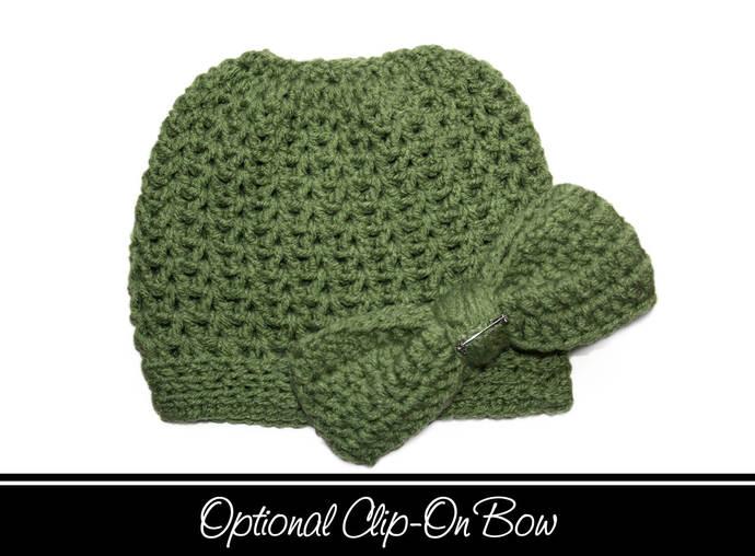 Green Messy Bun Hat a1bf6613c58