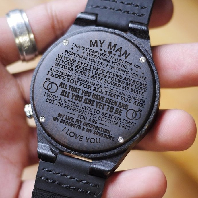 Watch For Men - Gifts For Man Wooden Watch With Perfect Engraving - Gift For My