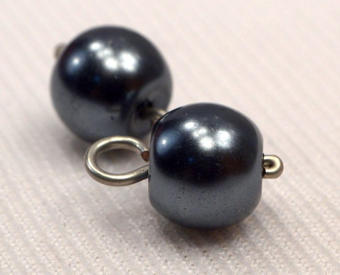 Black Pearl Charms, Loose Pearl Jewelry Charms, Midnight Black Pearl Charm,