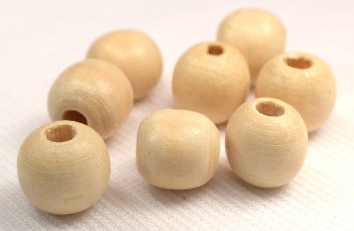 12mm Natural Round Wood Beads, 15 Eco Friendly Round Wood Beads, Jewelry Making,