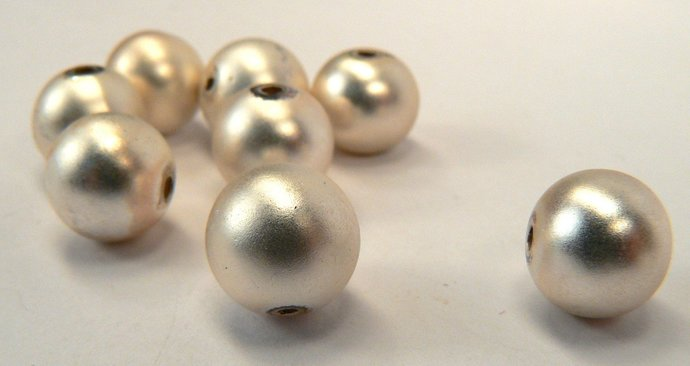 Vintage Frosted Silver Beads, 10 Loose Silver Beads, Round Beads, Beads For