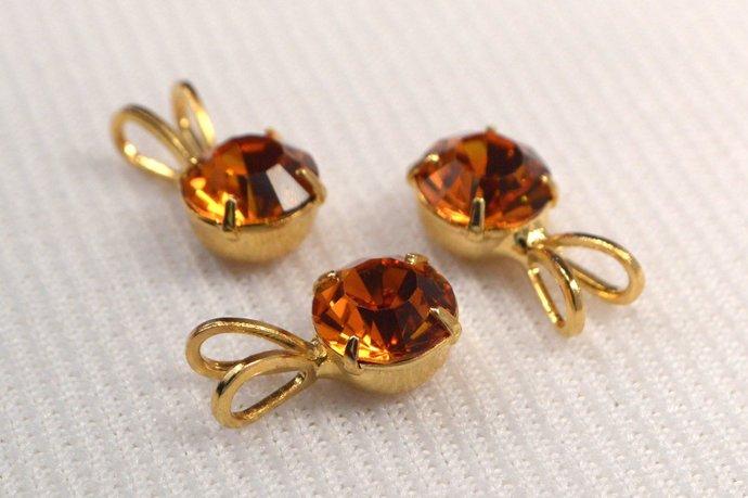 Vintage Topaz Crystal Pendant, Loose Topaz Crystal Pendant, Pendant For