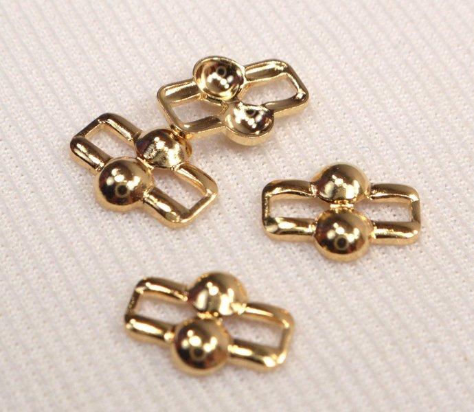 6 Gold Metal Vintage Connectors, Retro Gold Link Connectors, Jewelry Making