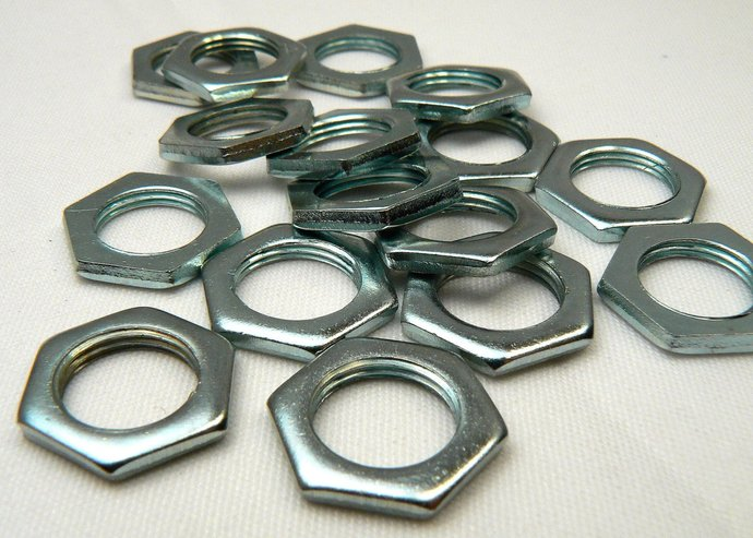 Stainless Steel Washers, Industrial Jewelry Making Supplies, 6 Loose Silver