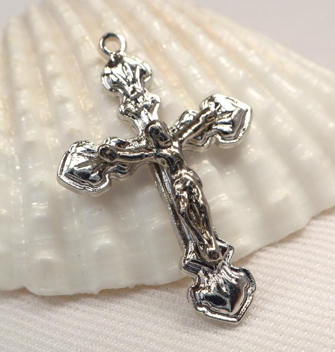 Vintage Cross Pendant, Metal Crucifix Pendant, Men And Women Jewelry Pendant,