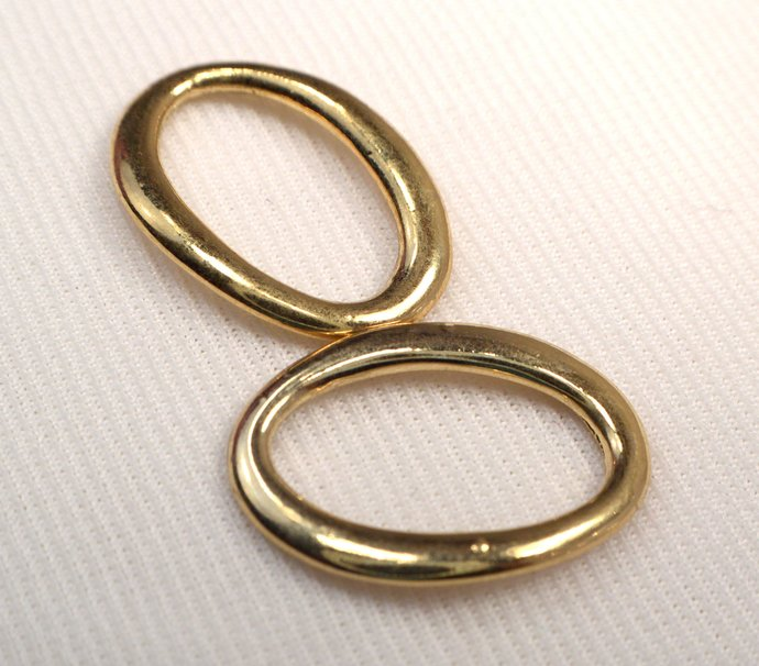 Gold Oval Rings, Ring Findings, Loose Gold Oval Ring For Jewelry Making, Destash