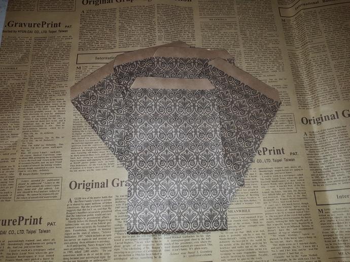 P102 Large Brown Paper Bags (5 Pieces) , Elegant, Decorative Paper Bags, Kraft