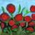 Red Flower Garden Artwork Ready to Ship